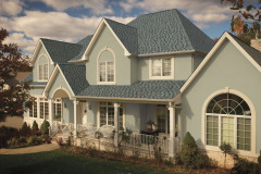 Photo of a home using GAF's Timberline American Harvest Nantucket Morning shingles