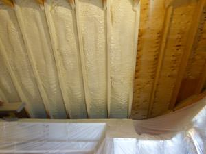 Spray foam insulation air seals and insulated NE WI homes.